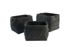 Felt storage baskets