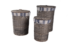 Set of 3 wicker laundry hamper