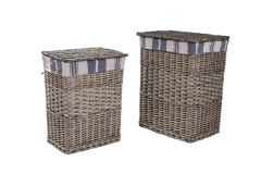 Set of 2 wicker laundry hamper