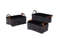 Set of 3 textilene baskets
