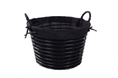 Wicker tapered basket