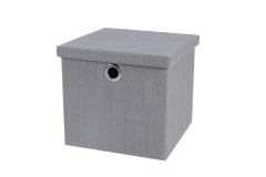 Foldable paperstraw storage box with lid