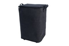 Fabric laundry hamper with wheels