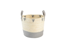 Maize leaf and paper laundry basket
