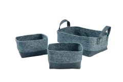 Paper and PU storage baskets