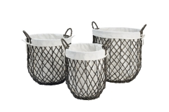 PE storage baskets
