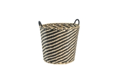 Rush and wire storage basket